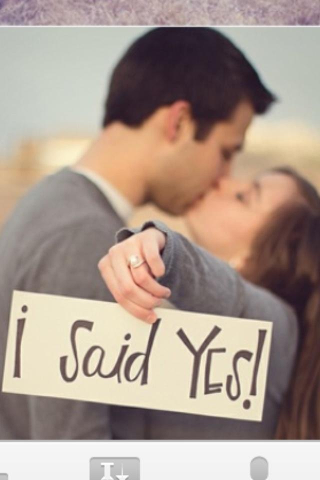 Engagement invite front photo