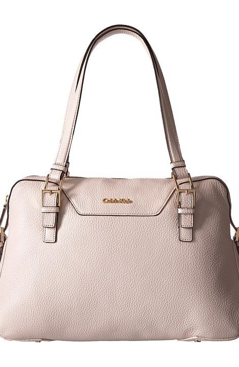 Calvin Klein Quilted Leather Pebble Satchel (White) Satchel Handbags - Calvin Klein, Quilted Leather Pebble Satchel, H7ADA6HH-100, Bags and Luggage Handbag Satchel, Satchel, Handbag, Bags and Luggage, Gift - Outfit Ideas And Street Style 2017