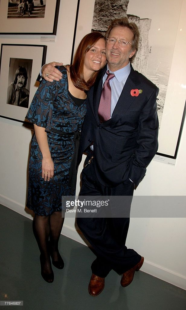 Sir Eric Clapton with wife Melia McEnery attend a private view of photographs dedicated to Sir Eric Clapton to celebrate his latest book 'Eric Clapton: The Autobiography', at the Getty Images Gallery on November 1, 2007 in London, England.