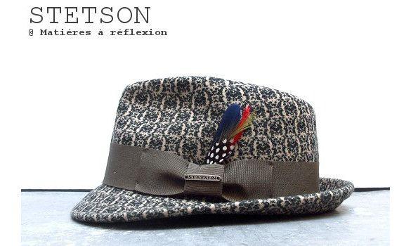 Stetson chapeau homme Pueblo vert/blanc #stetson #hat #hats #chapeau #chapeaux #green #white #vert #blanc #laine #wool
