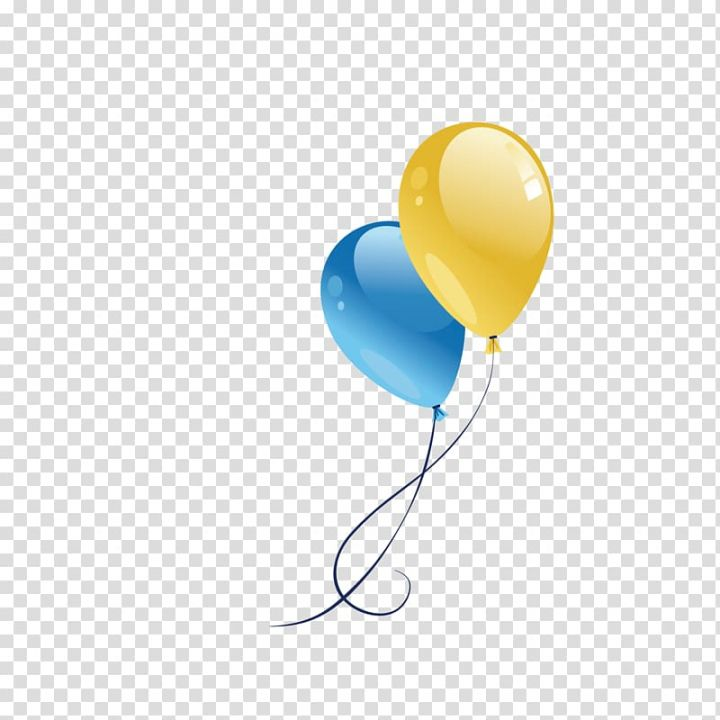 Two Blue And Yellow Balloons Illustration Computer File Festival Decorative Balloons Transparent Background Png Balloon Illustration Yellow Balloons Balloons