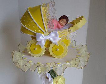 Yellow centerpiece for girls baby shower