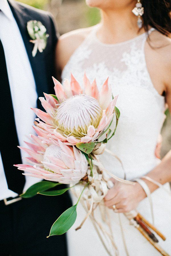 20 King Protea Bouquets That Are Bold And Beautiful Wedding Flowers Cost Wedding Flower Arrangements Cheap Wedding Flowers