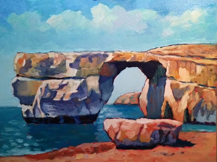 My latest painting - Azure window