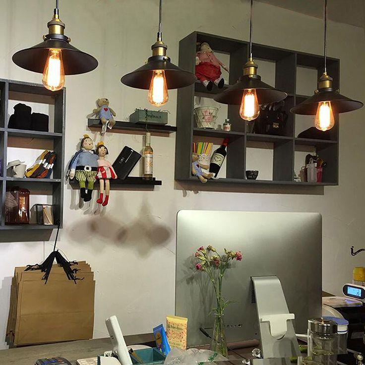 Vintage Pendant Fixture Ceiling Lamp Retro Industrial  Light Decor Chandelier -- BuyinCoins.com