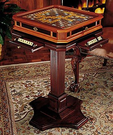 Franklin Mint Official Scrabble Collector Game Wooden
