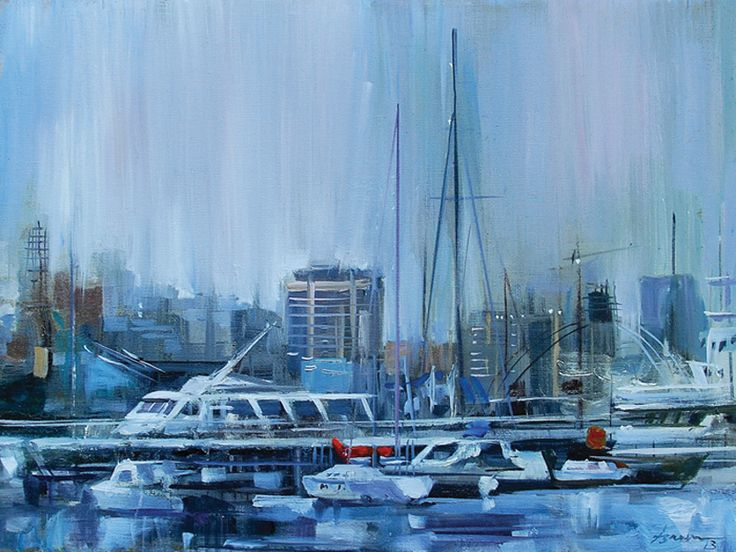 """From the series """"Magnificent Baku"""" oil"""