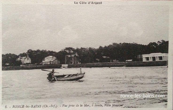Albatros, villa de bord de mer à Ronce les bains ... A gauche, sur cette vue aérienne de 1952, la villa Albatros Au fond, sur cette carte postale très animée de bord de mer, la villa Albatros Au...