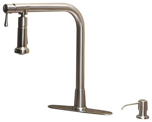 Giagni Pivot Sk102 Single Handle Pull Out Kitchen Faucet With Soap Pump
