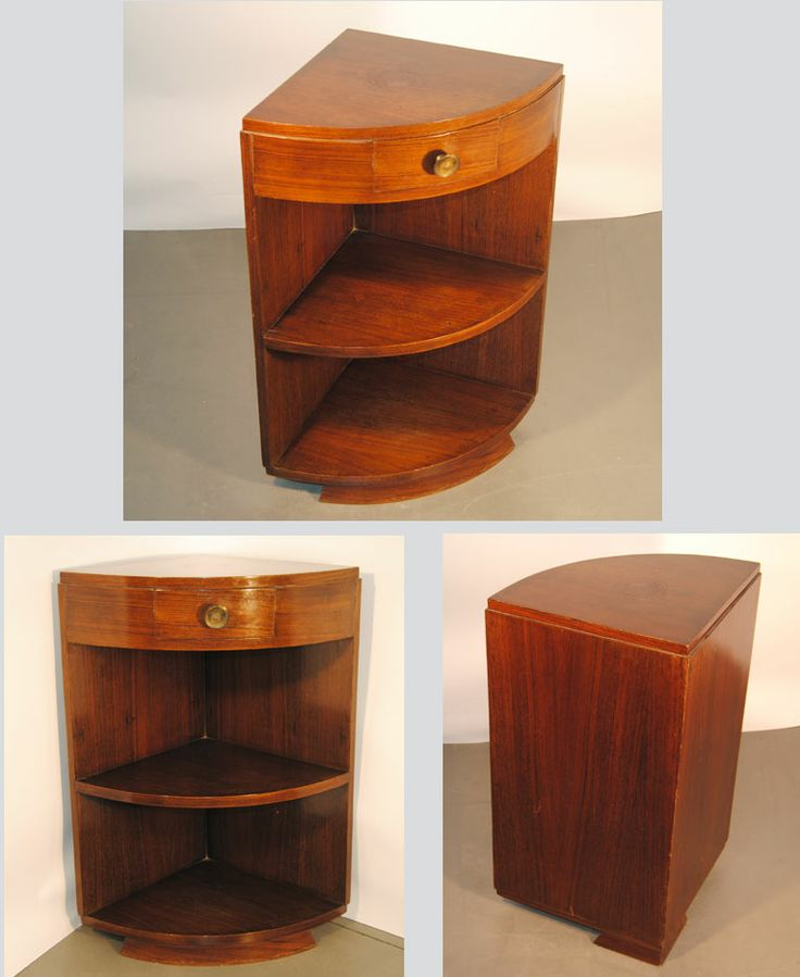 Travail art deco 1930 petite encoignure plaquee toutes for Encoignure meuble