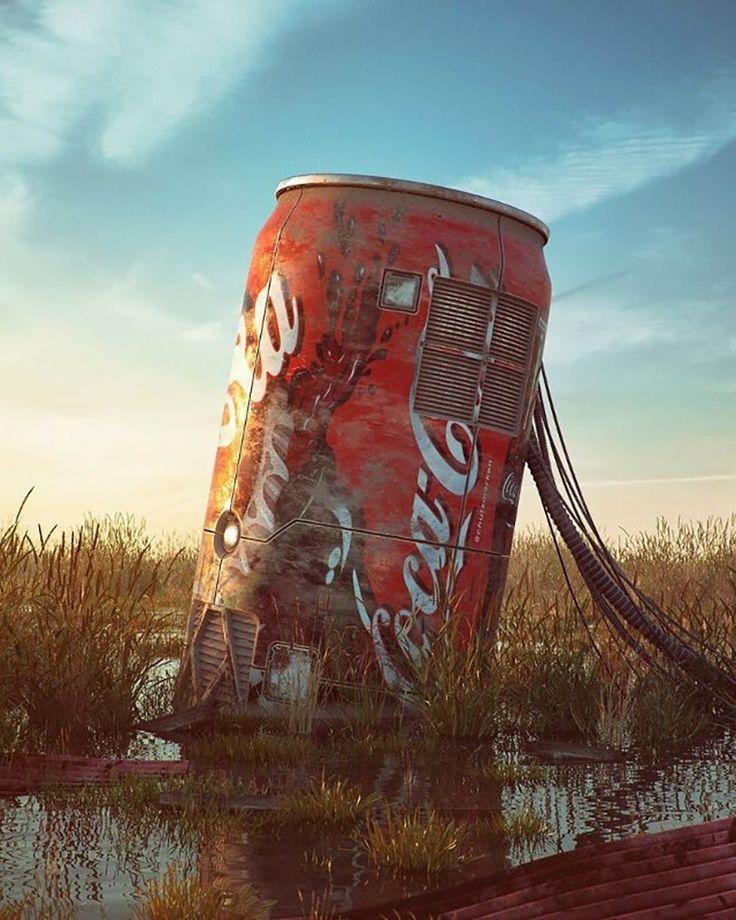Artista retrata ícones da cultura pop em um mundo pós-apocalíptico