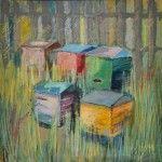 Ule, Majka Wójtowicz, akryl i pastela