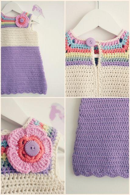 Baby crochet dress | Flickr: Intercambio de fotos