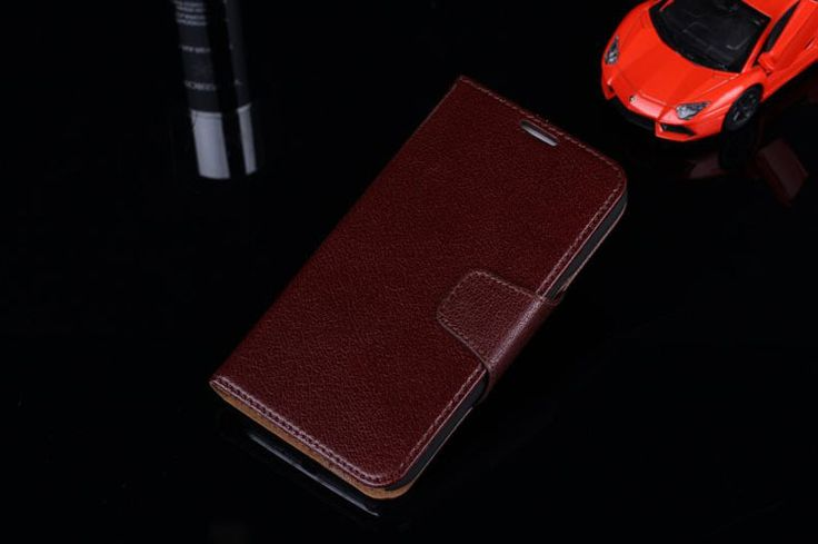 100% Yak Genuine Leather Flip Cover Case for Samsung Galaxy Note2 N7100 Note II with Card Slots Full-grain Leather for Note 2