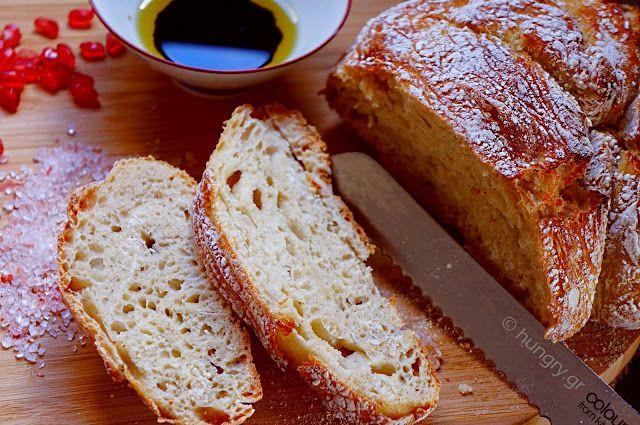 No Knead Bread/ Σπιτικό Ψωμί χωρίς Ζύμωμα