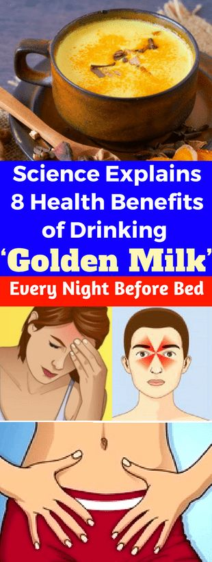 Science Explains 8 Health Benefits of Drinking 'Golden Milk' Every Night Before Bed - seeking habit
