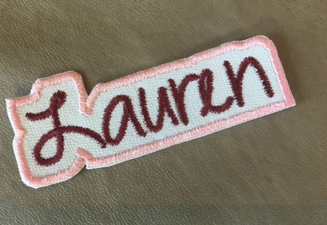 Personalized NAME PATCH - Iron On - Single Name Applique Patch, Embroidered Patch, Made to Order, Ships in 1-2 Days! #personalizedpatches #namepatches #cutepatches #stockingstuffers #kidspatches