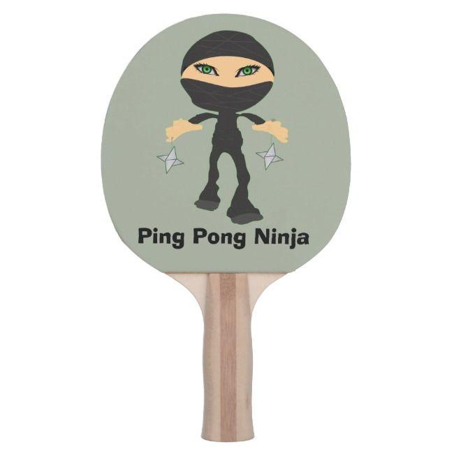 Ping Pong Ninja Girl Ninja Ping Pong Paddle Zazzle Com Ping Pong Paddles Ninja Girl Ping Pong Table Tennis