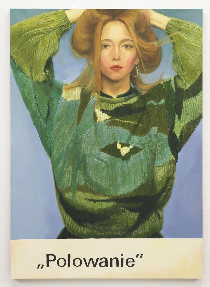 Paulina Ołowska, Polowanie, 2010, olej na płótnie, 175 x 125 cm, dzięki uprzejmości Stedelijk Museum, Amsterdam