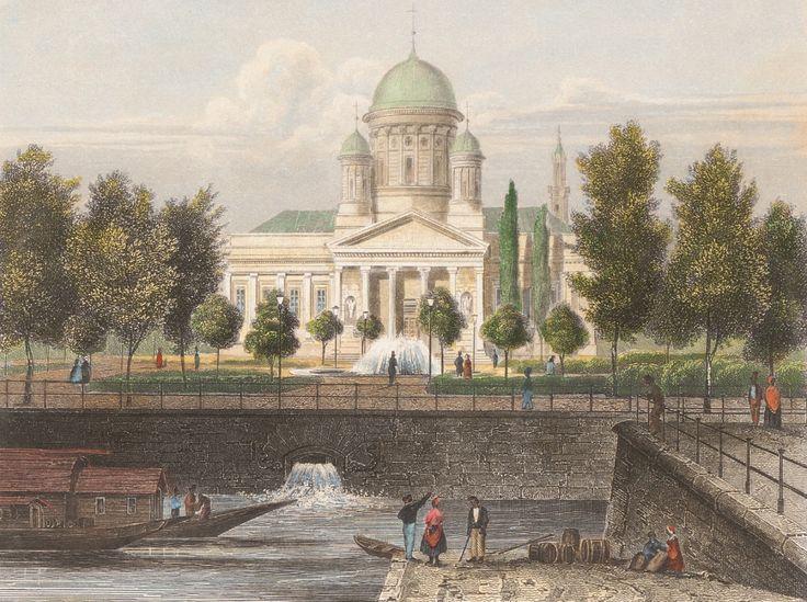 Karl Friedrich Schinkel (1781-1841) Berliner Dom, Karl Würbs (1807-1876, als Zeichner), Johann Poppel (1807-1882, als Stecher), 1817, Am Lustgarten