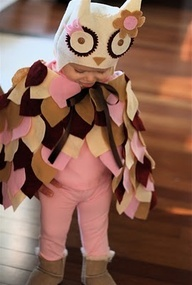 OMG! Cute Owl Costume. - give her owl wings for her birthday?!