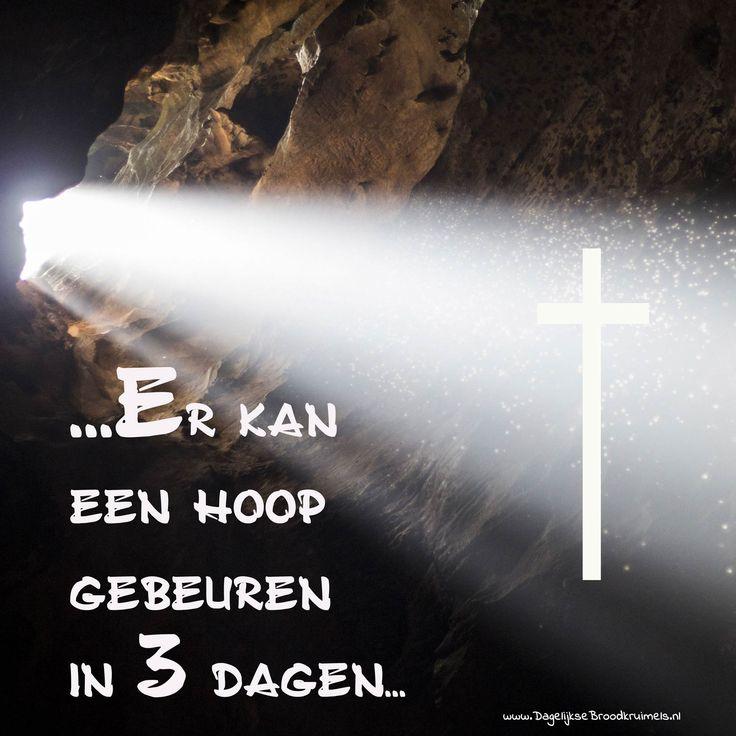 … Er kan een hoop gebeuren in 3 dagen… #Dood, #Leven, #Pasen https://www.dagelijksebroodkruimels.nl/er-kan-een-hoop-gebeuren-in-3-dagen/