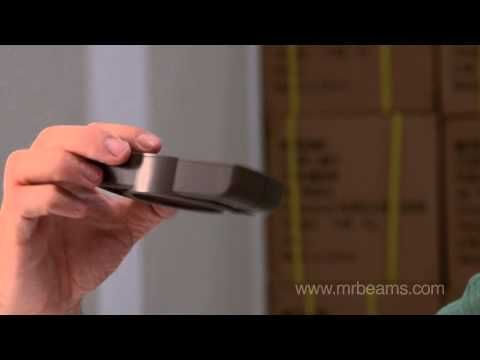 Mr Beams™ versatile LED Battery-Powered Slim Lights with motion and light sensors. The Brightest light for lighting small spaces including pantries, under cabinets, work spaces, sheds, shelving units and cupboards.