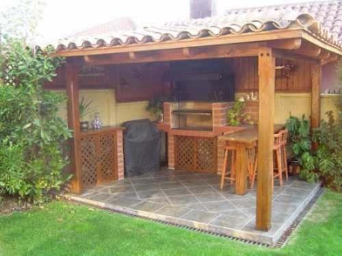 12 best quinchos images on pinterest bbq pools and barbacoa - Disenos de patios ...