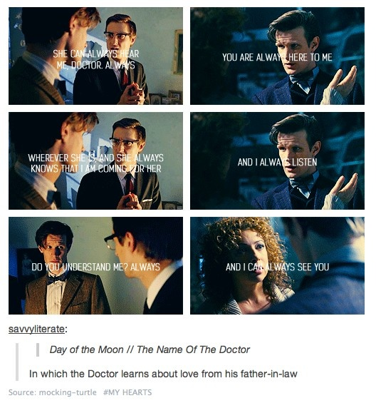 In which the Doctor learns about love from his father-in-law. Which is perfect. Because Rory is utterly, absolutely wonderful.