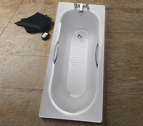 Alternate image of Twyford Celtic 1600 x 700mm Plain Steel Bath With Legs - BS1202WH