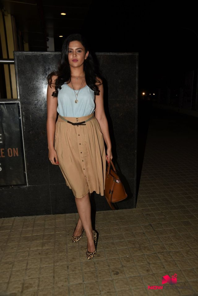 Deeksha Seth snapped at Bombay Velvet Screening