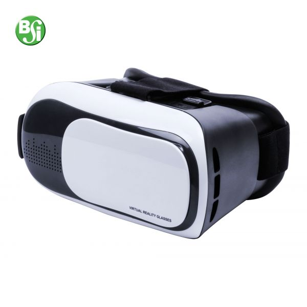 Headset per realtá virtuale in plastica con lenti regolabili, cinghia elastica e portacellulare universale. Supporta smartphones con schermo 4,5-6,5 pollici.  #realtàaumentata #3d #realtàvirtuale