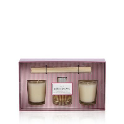 Debenhams Pomegranate votives and diffuser gift set | Debenhams