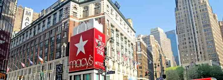 Sitting on Broadway between 34th and 35th streets, Macy's flagship store is a spot for tourists and residents alike. Covering an entire city block, the massive New York landmark is a must-see NYC attraction. international visitors can show their passport and pick up a discount card worth 11% savings.