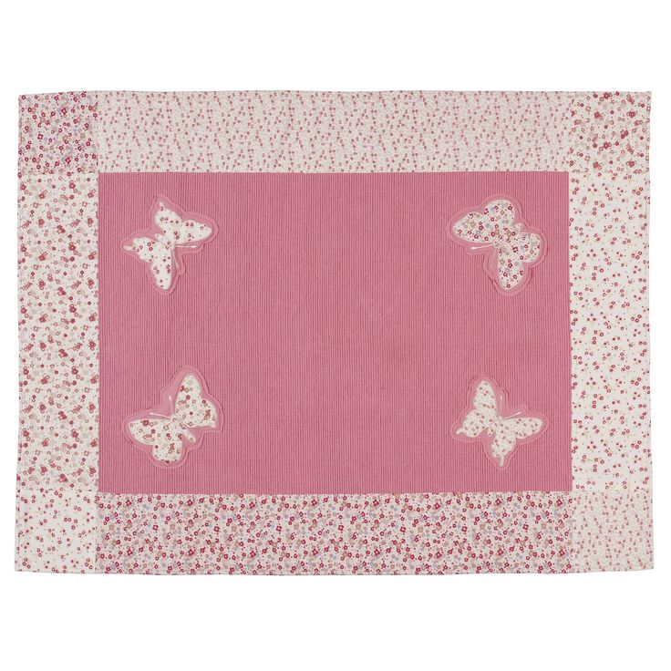 Bella Butterfly Pink Cotton Rug at LAURA ASHLEY