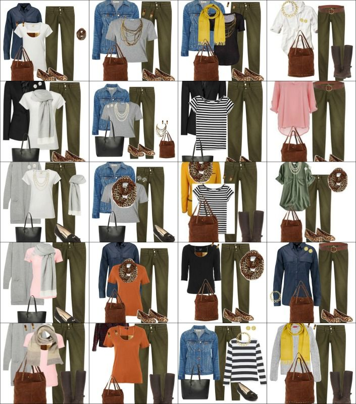 Capsule Wardrobe Fall 2016 Olive Pants Outfits                                                                                                                                                                                 More