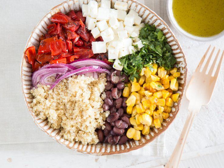 Mexikanischer Quinoa-Salat mit Feta