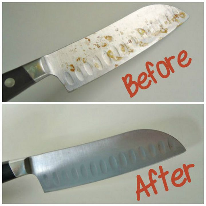 How to remove rust from your metal knives.