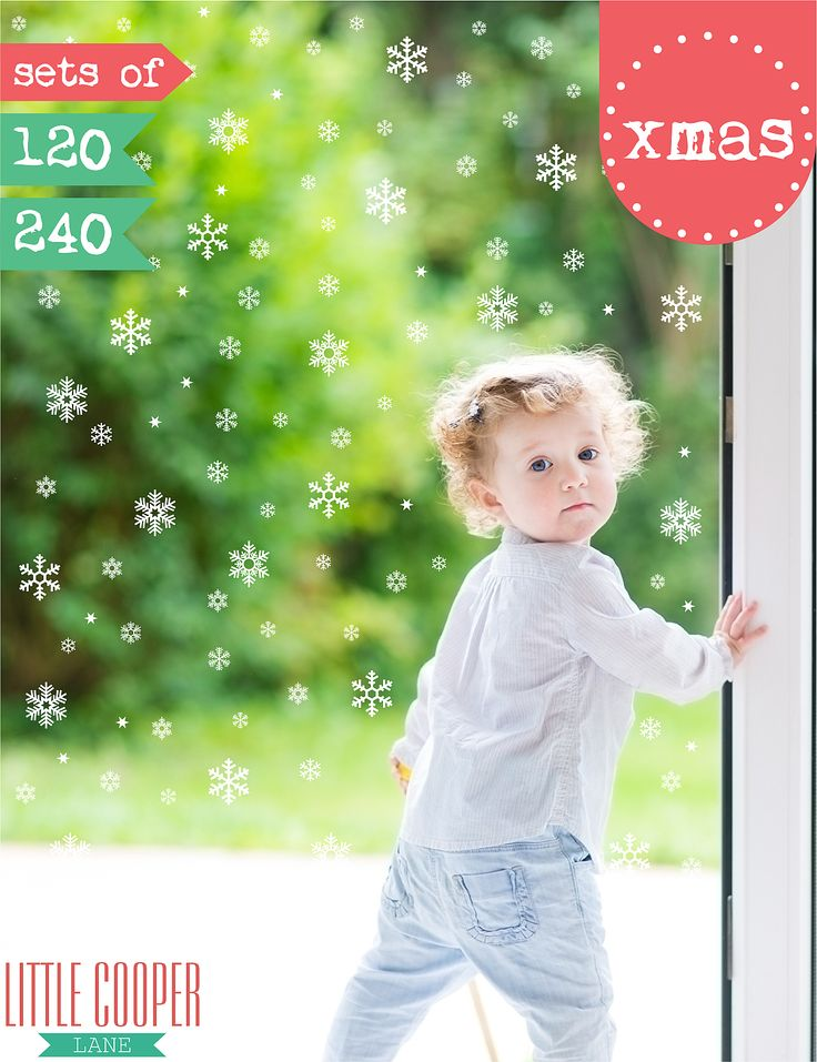 Spread the Christmas cheer these Holidays with these snow flakes scattered over your walls, front windows or even your car! Make it known that Christmas is coming.