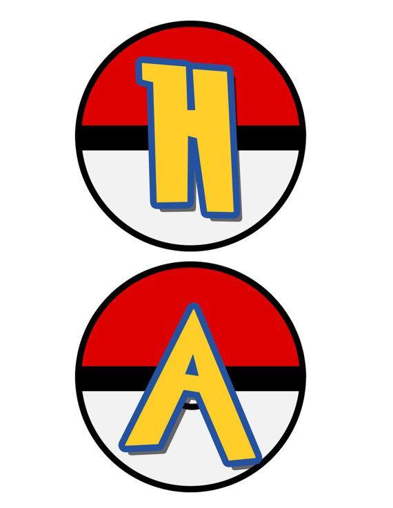 Pokemon inspirada decoración Banner fiesta por 420Printables