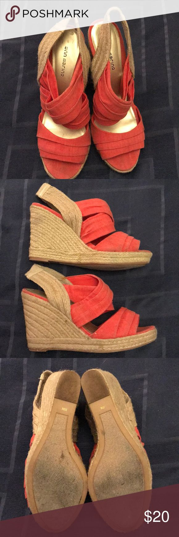 Shoes Cute orange espadrilles Ann Marino Shoes Espadrilles
