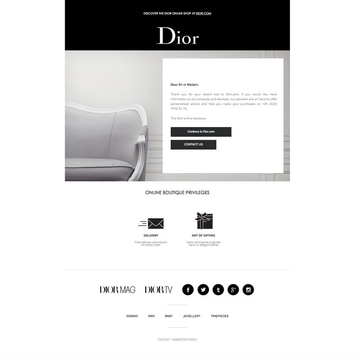 Thank you for using the Dior online store