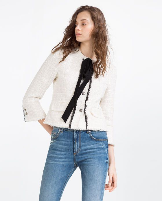 Image 1 of JACKET WITH BOW from Zara