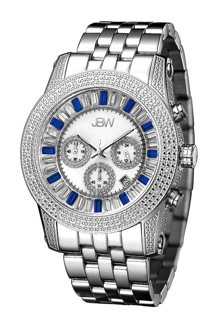 Men's Krypton Diamond Bracelet Watch by JBW on @HauteLook