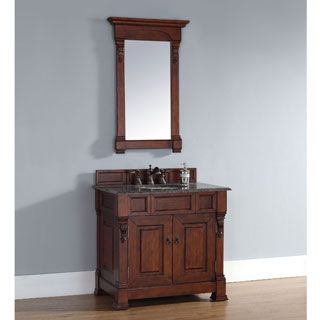 Website With Photo Gallery Best Deal James Martin Brookfield Single Bathroom Vanity Solid Wood w Drawers Warm Cherry