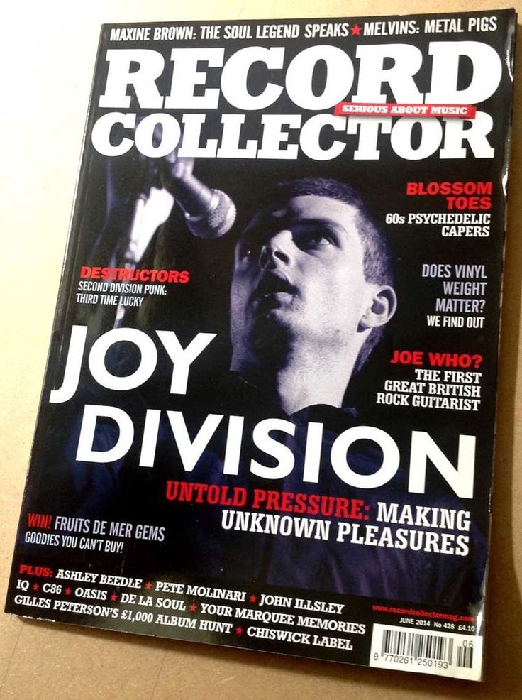 JOY DIVISION Record Collector 428 Pete Molinari De La Soul C86 Destructors