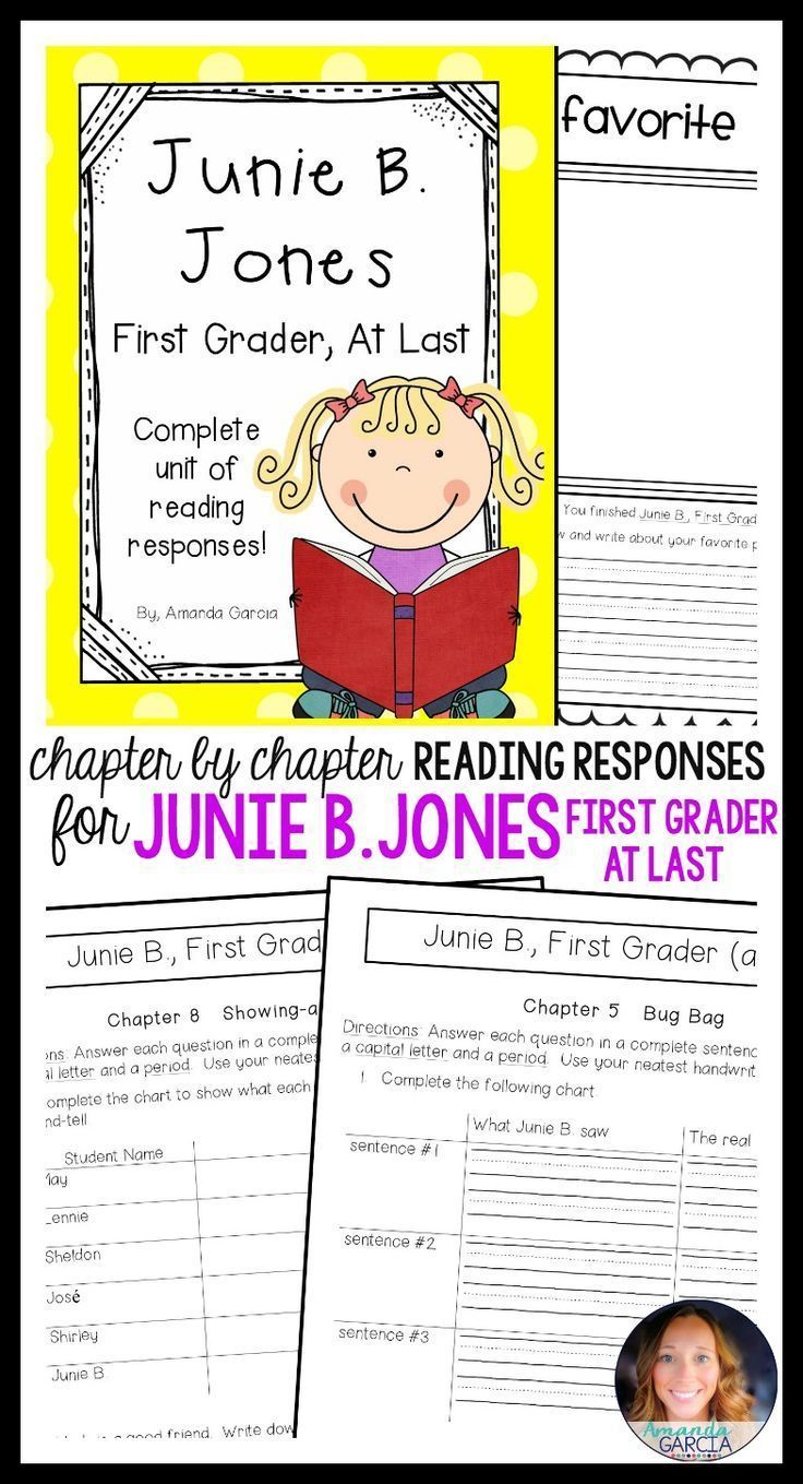 Junie b coloring pages - Junie B First Grader At Last Complete Unit Of Reading Responses