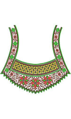 Bride Boho Gypsy | Sequins & Cording Neck Embroidery Design