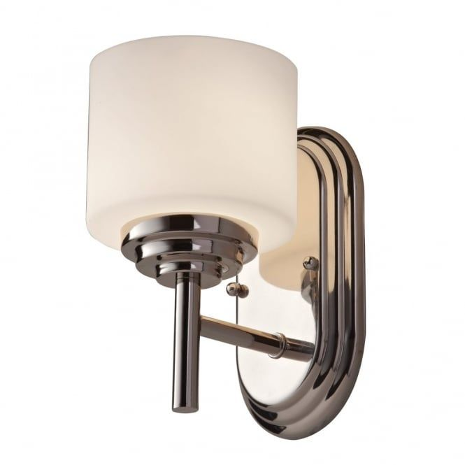 Best Modern Classic Bathroom Wall Light in Chrome with Opal Glass Shade