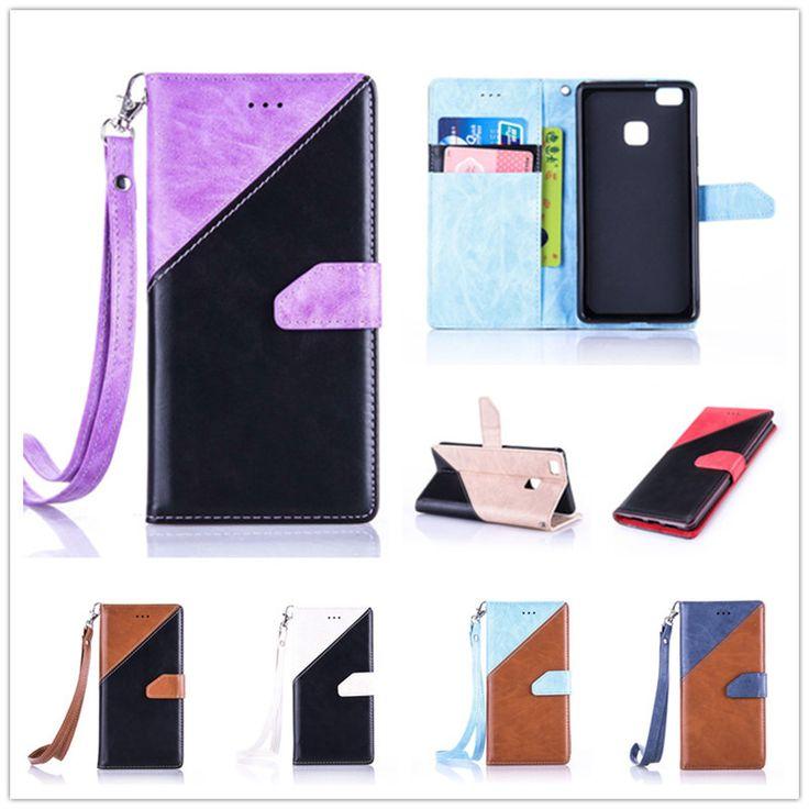 Шить цвет Флип Бумажник Чехол Для Huawei P9 Lite Коке Роскошные PU Кожа Стенд Телефон Обложка Для Huawei Ascend P9 Lite